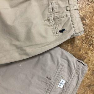 Men's polo vineyard vines khaki shorts